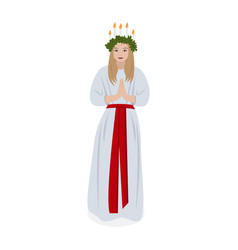 scandinavian tradition saint lucys vector image