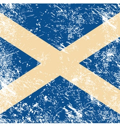 Scotland retro flag vector