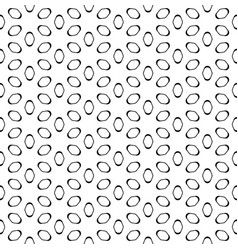 Seamless pattern black elliptic figures on white vector