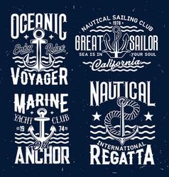 ship anchor t-shirt print templates vector image