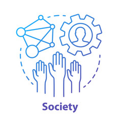 Society concept icon community social integration vector