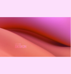 soft viscous pink wave abstract background vector image