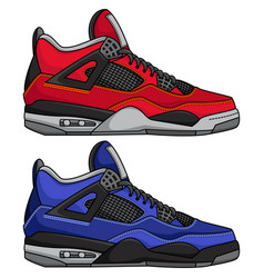 Sporty sport shoes vector