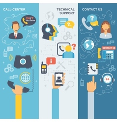 Support Call Center Banner vector image
