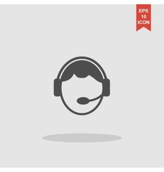 Support icon Flat design style vector