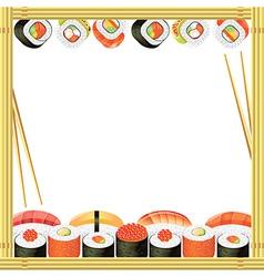 Sushi frame vector