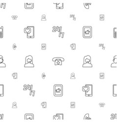telephone icons pattern seamless white background vector image