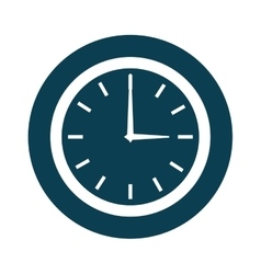 time clock watch icon vector image