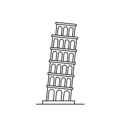 tower of pisa icon vector image