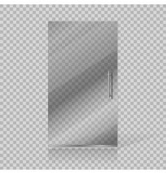 Transparent glass doors vector