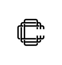 triple c monogram ccc letter hipster lettermark vector image