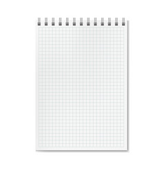 vertical realistic graph ruled notebook vector image