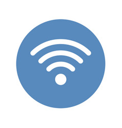 Wifi icon wireless network symbol placed in blue vector