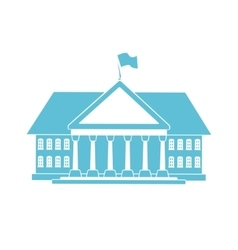 blue house shape vector image vector image