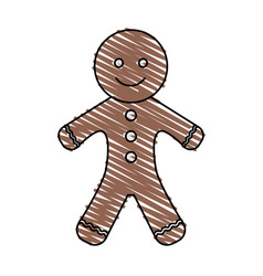 gingerbread man icon image vector image