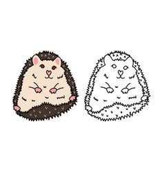 porcupine or hedgehog vector image