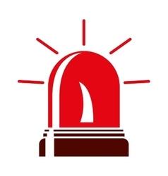 red light Fireman siren icon vector image
