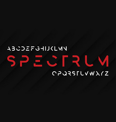 spectrum regular futuristic decorative sans serif vector image