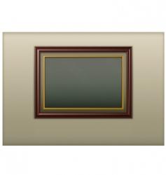 wooden framework vector image vector image