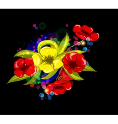 abstract colorful floral background vector image vector image