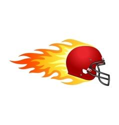 Flaming football helmet vector image vector image