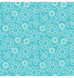 floral seamless pattern in blue vector image vector image