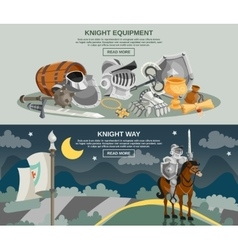 Knight banner set vector