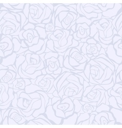 Seamless retro background with white roses vector image vector image