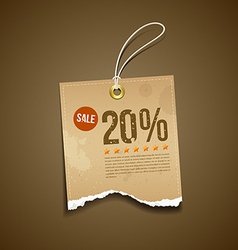 Vintage Label Ripped brown paper sale vector image vector image