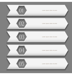 White Design template with stylized arrows vector image vector image