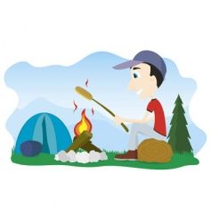 camp fire vector image vector image