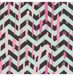 Striped background with brush strokes vector