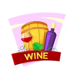 Wine concept design vector image vector image