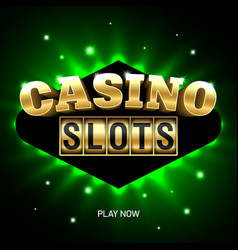 casino slots bright banner vector image vector image