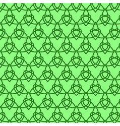 Celtic seamless pattern Colored with green vector image