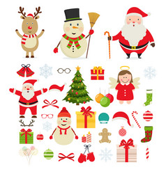 Christmas festive new year decorations vector