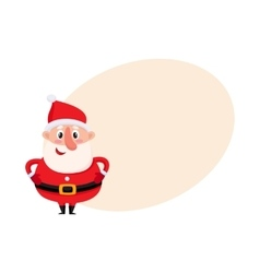 Cute and funny Santa Claus with round belly vector image vector image