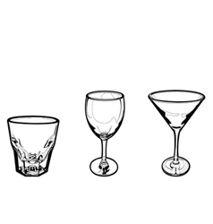 drinking glass vector image vector image