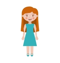 girl with dress and long hair vector image