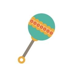 Isolated baby maraca design vector image vector image