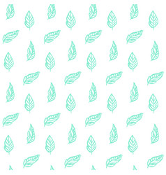 plant leaf trendy seamless pattern vector image