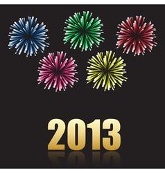 2013 new year celebration vector image