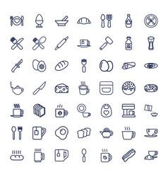 49 breakfast icons vector
