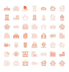 49 residential icons vector image