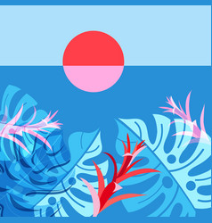 A tropical landscape with vector