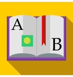Abc book icon in flat style vector