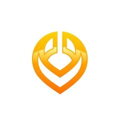 Abstract letter V technology logo vector
