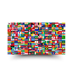 All national flags world background style vector