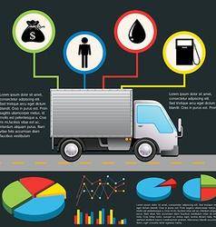 An infochart of a delivery van vector