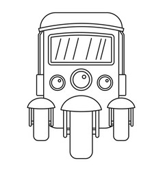 auto rickshaw icon outline style vector image